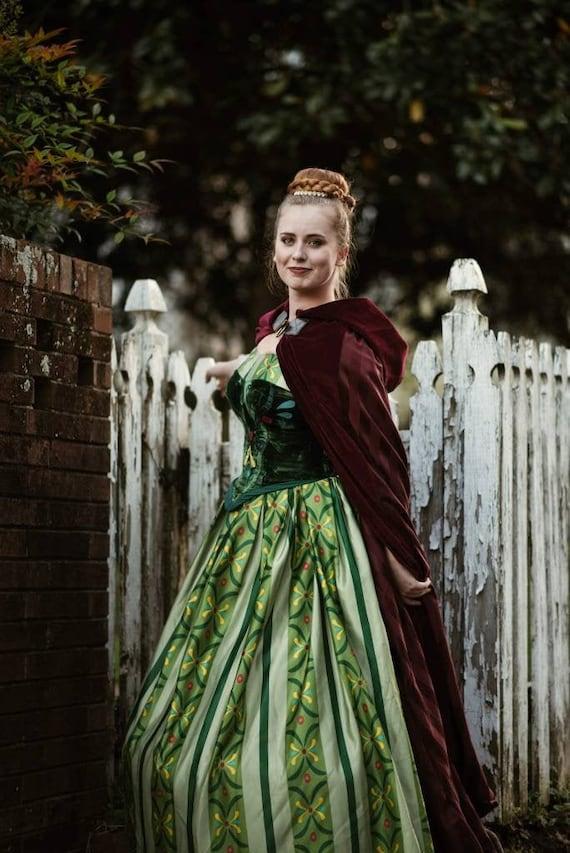 Anna Disney Frozen Princess Ball Gown Costume Etsy