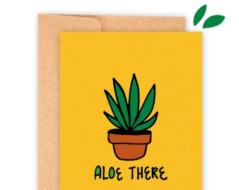 """Aloe There A2 Greeting Card 5.5""""x4.25"""" with Envelope 