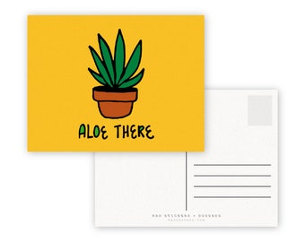 Aloe There A2 Double Sided Postcard