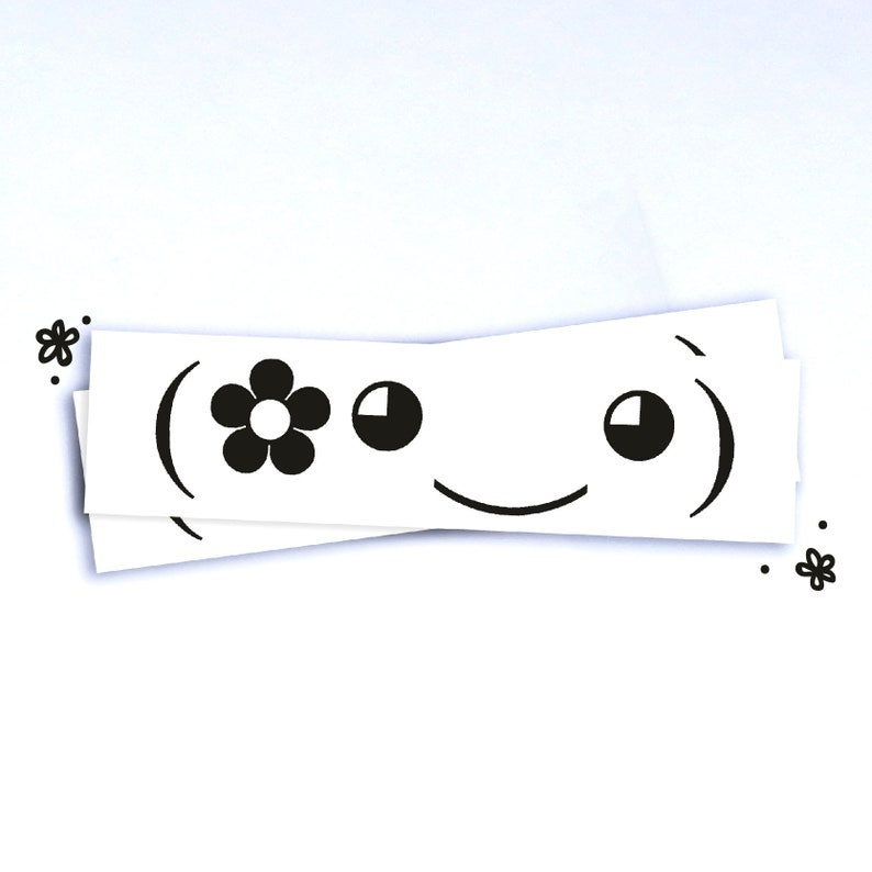Flower Pal - Kawaii Emoji Vinyl Sticker - 5 5
