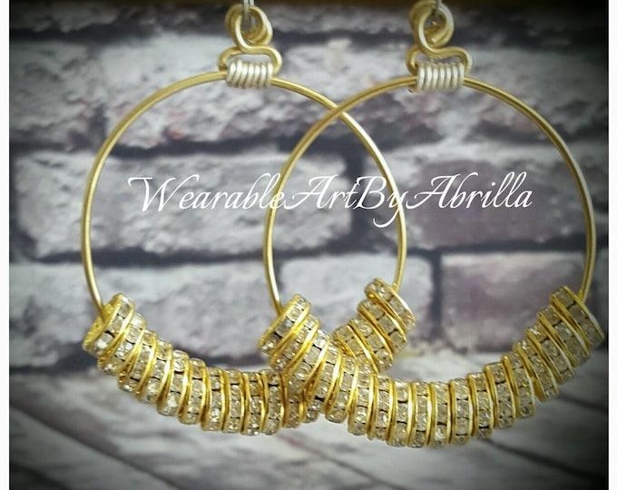 BILLIONaire... handmade .. handcrafted .. wearable art .. hoops .. gold jewelry