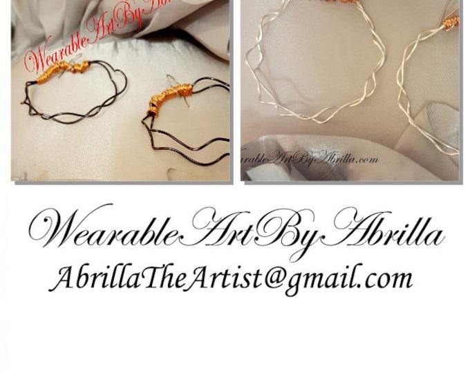 88DOWN .. handmade jewelry, handmade earrings, handcrafted jewelry, handcrafted earrings, hoop earrings, wire wrapped earrings