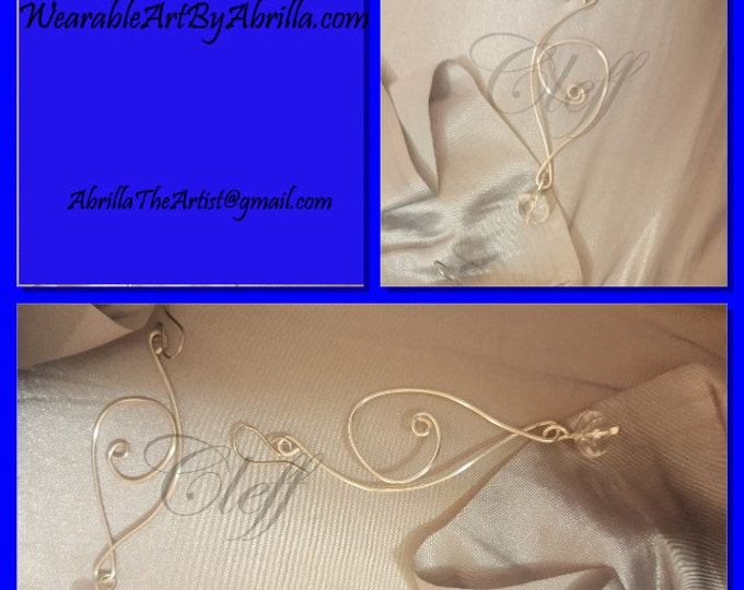 CLEFF .. wearable art .. handmade .. handcrafted .. silver jewelry .. earrings .. silver earrings .. beaded jewelry .. beaded earrings