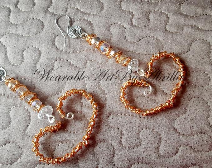DISTRACTION.. handmade jewelry, handmade earrings,  wire wapped jewelry, wire wrapped earrings