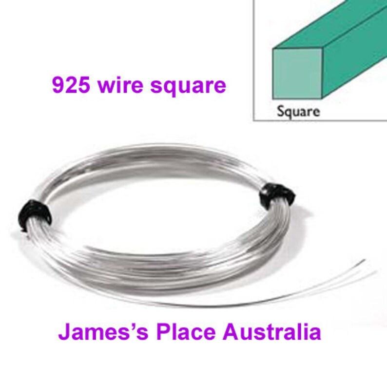 Half-Round 925 Sterling Silver Wire Round Square