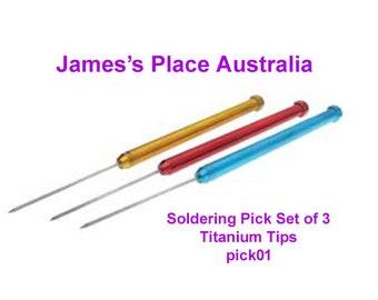 Titanium Soldering Picks - Set of 3 - or sold individually.