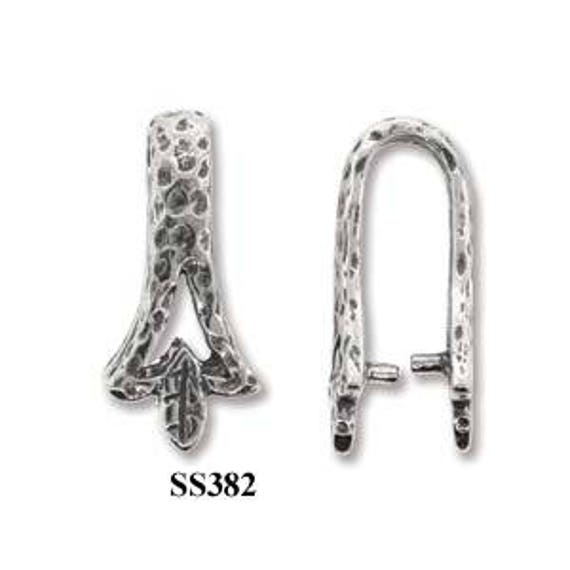 High Quality pinch Bail pendant Sterling Silver 925 best for many types crystals