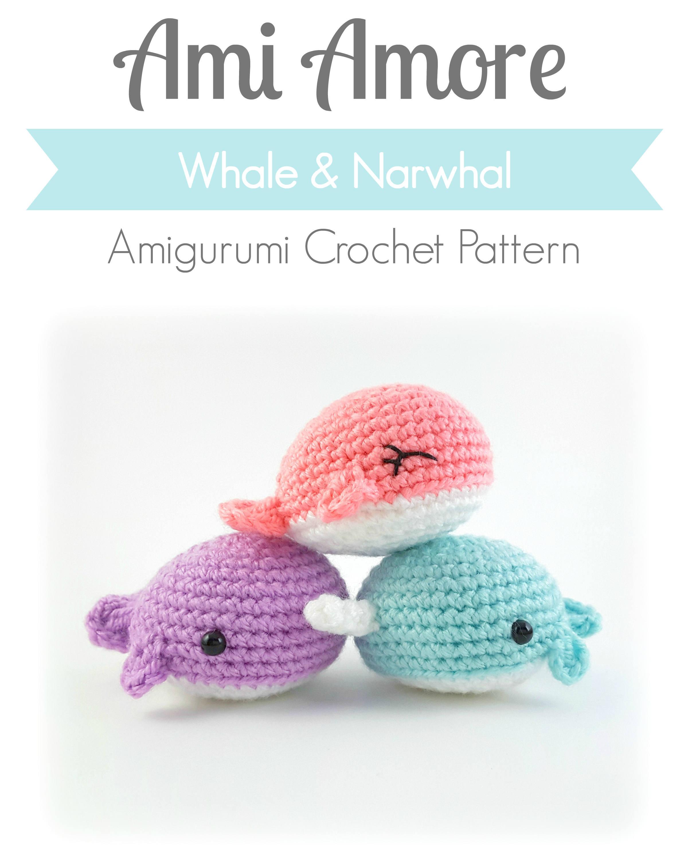 Pattern: Crochet Whale Pattern, Amigurumi Whale Narwhal Pattern ...
