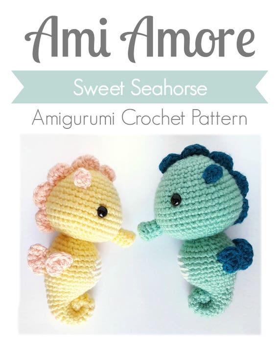 Pattern: Crochet Seahorse Pattern Amigurumi Seahorse Pattern | Etsy