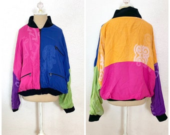 fa6942131 Vintage 90s Cross Colors Baggy Batwing Jacket Xlarge XL Womens