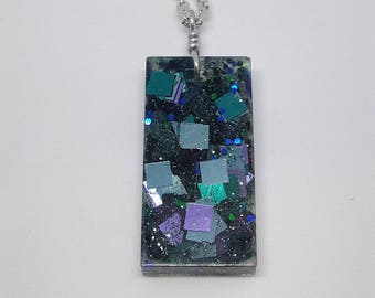 Disco Necklace | Extra Chunky Glitter | Disco Ball | Resin Jewelry