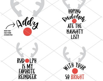 Rudolph SVG | Funny Christmas SVG |  Christmas Cut File | Instant Download | Cricut Cut File