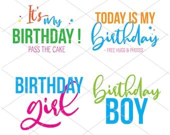 Happy Birthday SVG | Birthday Girl | Birthday Boy | Instant Download | Cricut Cut File