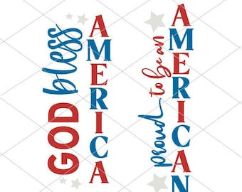 Welcome Sign SVG | Porch Signs cut files | God Bless America SVG | Instant Download | Cricut Cut File