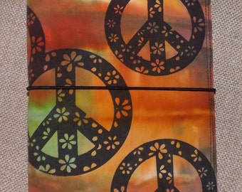 Peace, Love and Flowers Fabric Monadori Made to order