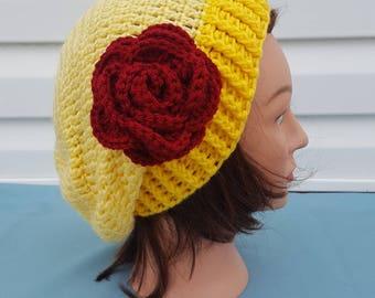 Crochet Disney princess inspired slouchy hat