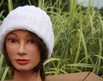 Crochet Ribbed hat with cuff