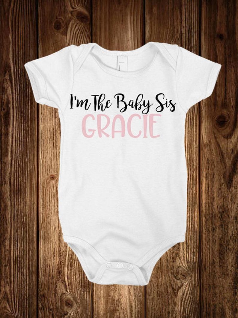Onesie Lil Sis Onesies\u00ae Vinyl Custom Name Baby Onesie Stretch Little Brother Infant Toddler Little Sister Custom