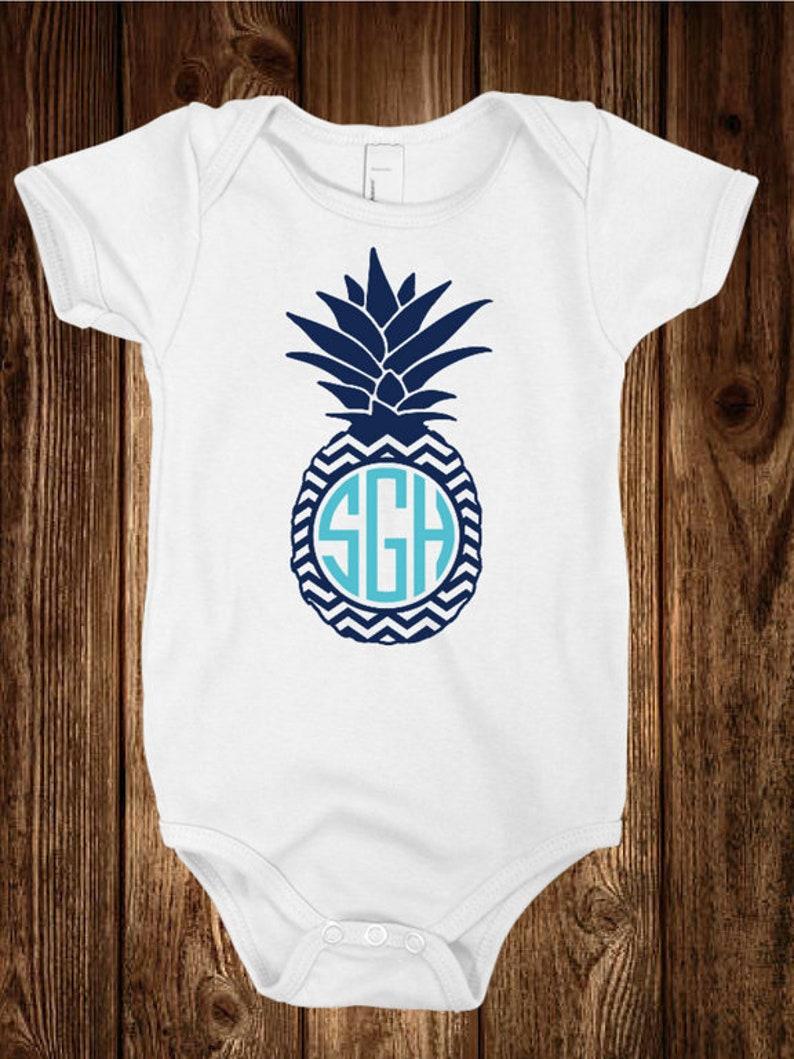 Pineapple Onesie Onesies\u00ae Vinyl Onesie Custom Toddler Infant Stretch