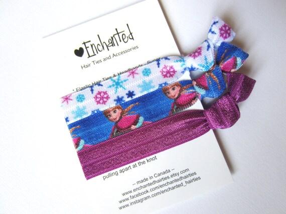 Anna Inspired 3-Pack Soft Elastic Hair Ties Bracelet Ribbon  9feab89db5f