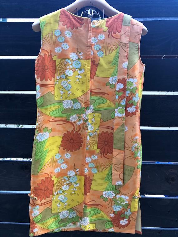 50s 60s Dress   Tiki Vintage Pencil Dress   Silk … - image 4