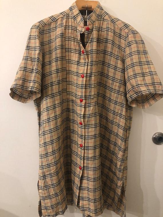 Burberry Fabric Tunic | Vintage Size L | Handmade