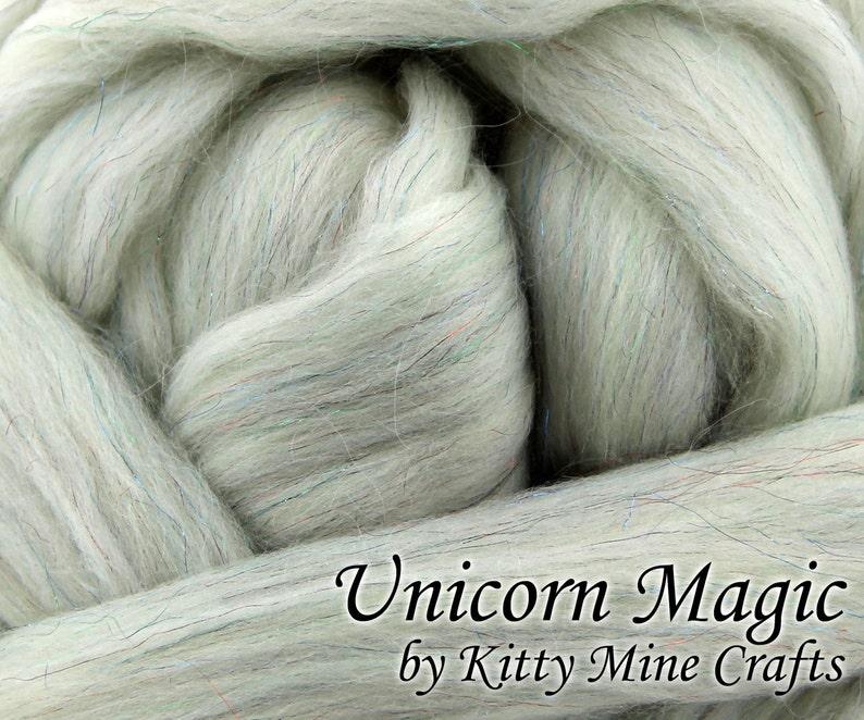 Undyed Unicorn Magic Roving  Ecru 8 oz  Rambouillet image 0
