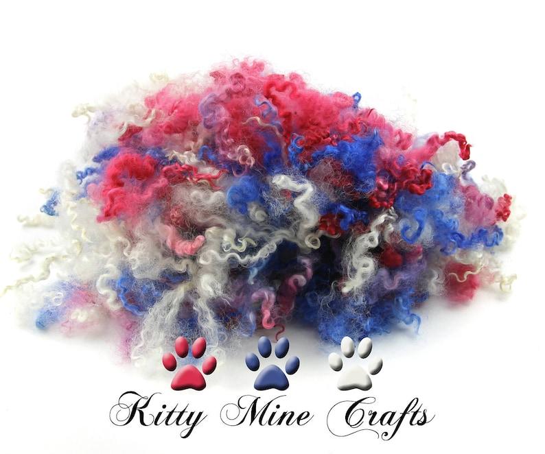 Kettle Dyed Wensleydale Wool Locks  3.3oz  Doll Hair image 1