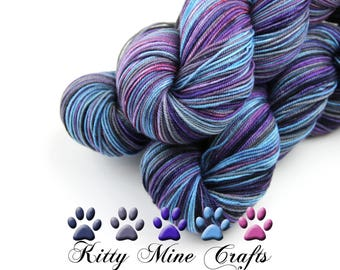 Sagrada Sport Yarn, 85/15 Superfine Merino/ Cultivated Silk - 275yds/ 251m - Purple, Blue, Gray, Pink - Luxury Yarn