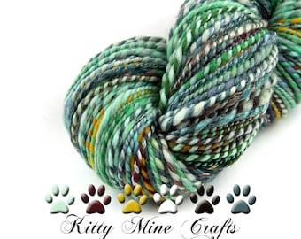 Two-ply Handspun Yarn - Wool Yarn Sampler - 228 yards, Super Bulky Weight - 2-ply