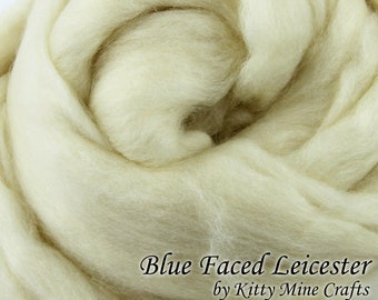 Undyed BFL Roving - Ecru, 8 oz - Wool Top - Combed Top - Dyeable Wool