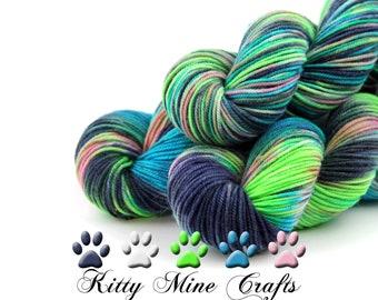 Absolem Dk Yarn - Phat Fiber - Hand Dyed SW Merino - Knitting, Crochet - Superwash Wool Yarn - Alice in Wonderland - Variegated