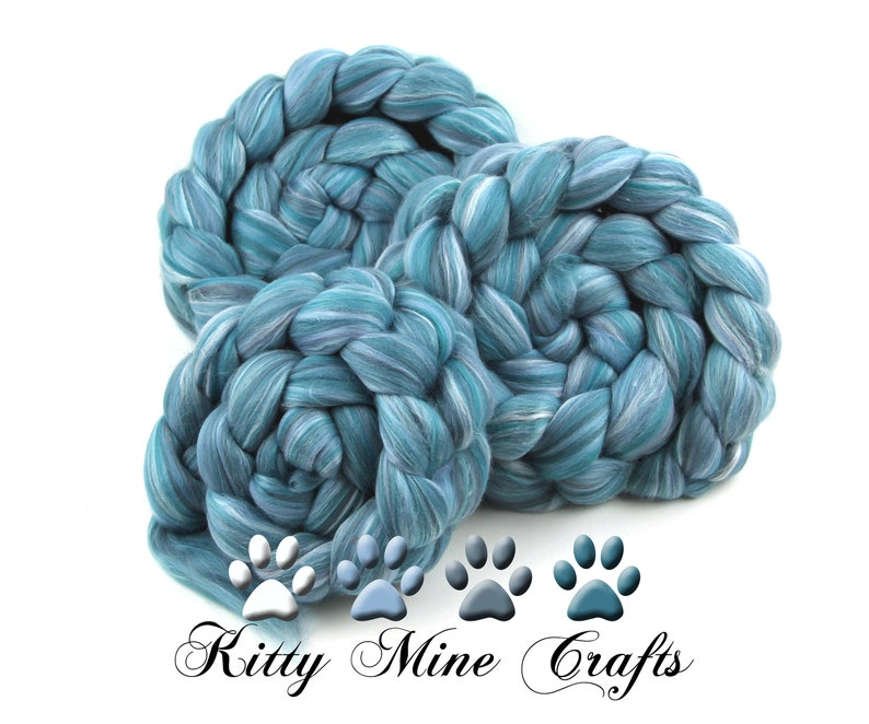 Corpse Bride  Merino Wool Pearl Infused Cellulose  Spinning image 0
