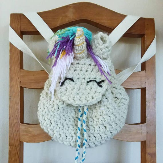 Crocheted Unicorn Backpack