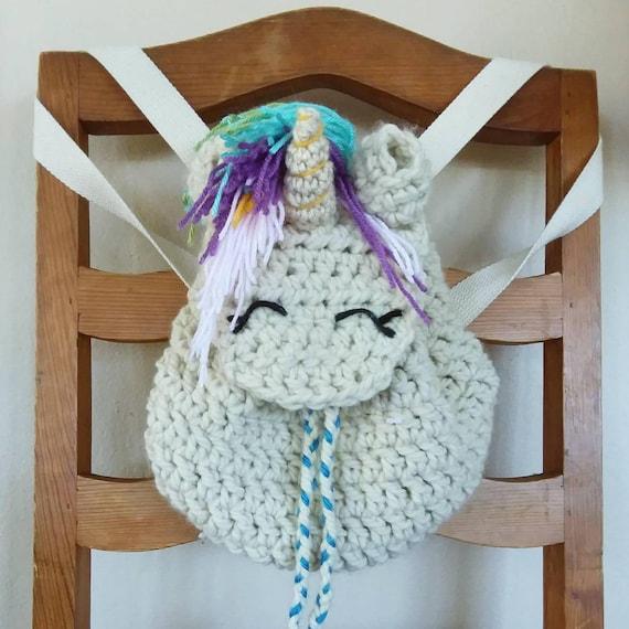 Crocheted Unicorn Backpack