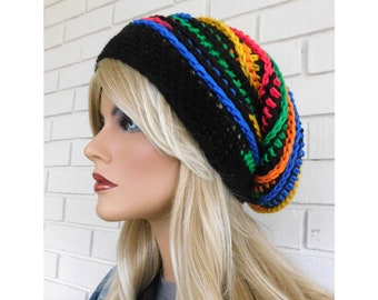 Colorful Slouchy Beanie Hat 56945d27391