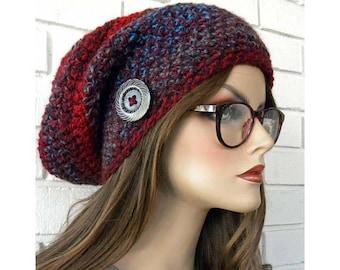 4f1aaaa7ba7 Slouchy Beanie Hat Chunky Winter Hat Knit Hat Handmade