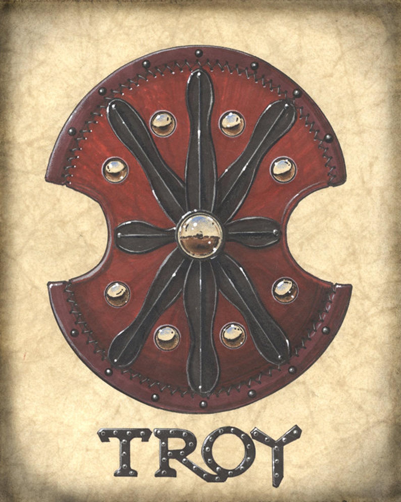 trojan sword and shield - HD1588×1985