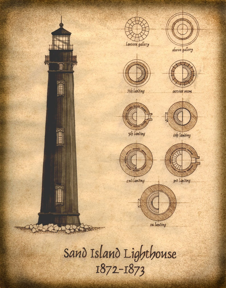 Sand Island Lighthouse Plan Drawing Architectural Plans | Etsy on ship and lighthouse, living in a lighthouse, southern maryland lighthouse, green bay lighthouse, st michael's lighthouse, ona lighthouse, potomac lighthouse, solomon's lighthouse, thomas point shoal lighthouse, orange lighthouse, newport news lighthouse, maidens lighthouse, neville lighthouse, dorchester yacht club lighthouse, jacksonville lighthouse, buckroe beach lighthouse, smith island lighthouse, huntington lighthouse, forest lighthouse, space lighthouse,