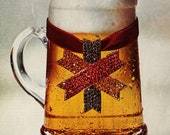 1968 Knickerbocker Beer Ad w Jeweled Stein - Wall Art - Home Decor - Bar Decor - Retro Beer Advertising