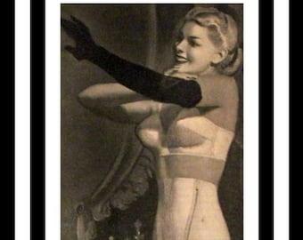 0aba8be2c32 1947 Formfit Shapewear Ad - Wall Art - Home Decor - Girdle - Life Bra -  Life Girdle - Lingerie - Retro Vintage Fashion Advertising