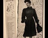 1941 Persian Curly Lamb Coat Ad - Wall Art - Home Decor - Full Length - Furs - Persian Lamb - 1940s - Retro Vintage Fashion Advertising