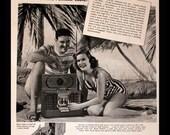 1947 Zenith Portable Radio Ad - Trans Oceanic Radio - Short Wave - Wall Art - Home Decor - Retro Vintage Electronics Advertising