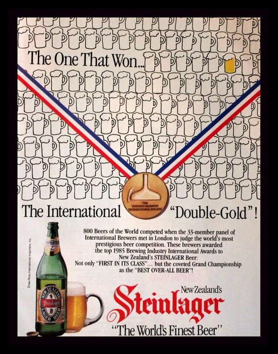 1986 cerveza Steinlager Ad Nueva Zelanda elaboración de la   Etsy