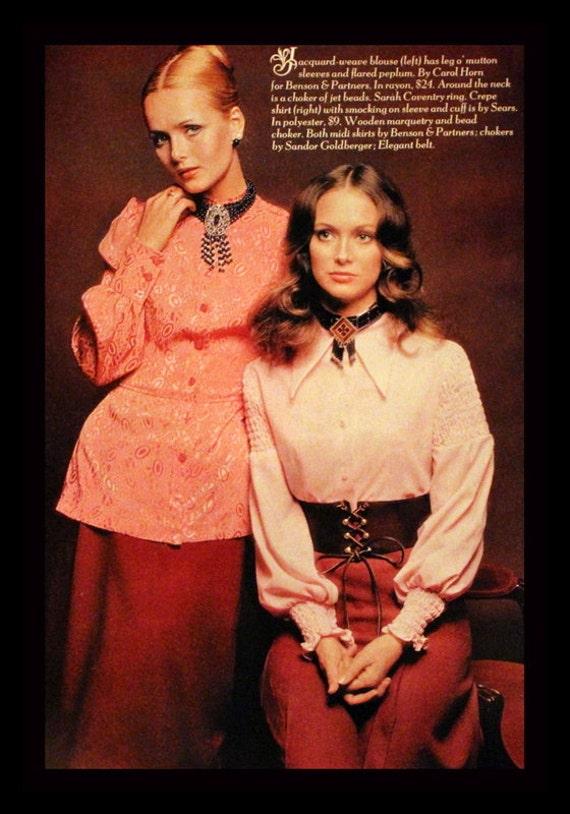 1970 Fashion Ad Blouses Style Inspiration Wall Art