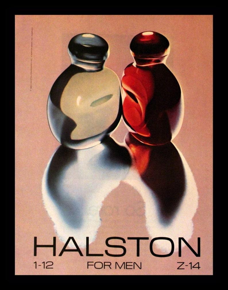 1983 Halston for Men Cologne Ad - 1-12 - Z-14 - Wall Art - Home Decor -  Bath - Vanity - Retro Vintage Fragrance Advertising