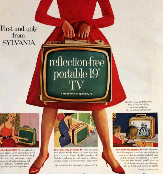 Sixties Electrical goods and appliances in the 1960's ...  |1960s Portable Televisions