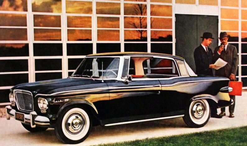 1961 Studebaker Lark Ad Black Vintage Retro Car Magazine