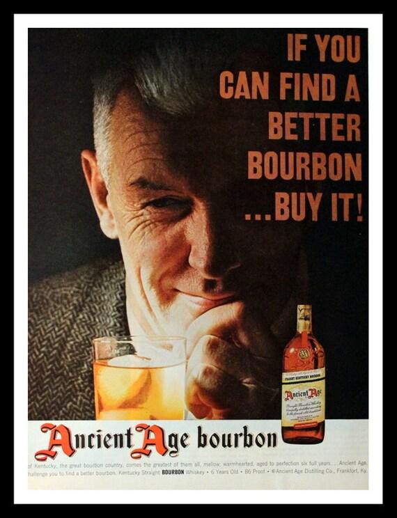 1957 Ancient Age Bourbon Ad Wall Art Home Decor Bar | Etsy