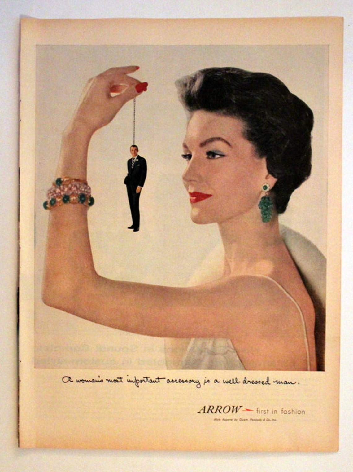 1956 Arrow Mens Clothing Ad Suit Wall Art Home Decor Etsy